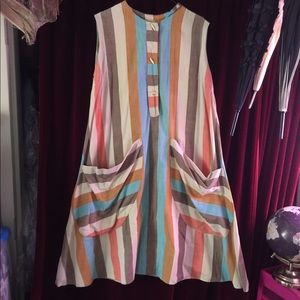 Vintage striped big pocked shift.